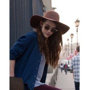 American Apparel floppy brown wool Baron hat
